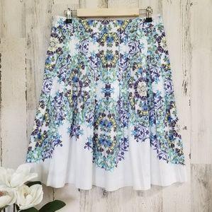 Talbot's Floral Skirt